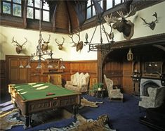 M: Another of the Gentlemen's Only areas. The Billiard room at Tyntesfield photographed by Paul Barker Billard Table, Trophy Rooms, Amazing Buildings, Grand Homes, Billiard Room, Smoking Room, House Rooms, Game Room, Disney