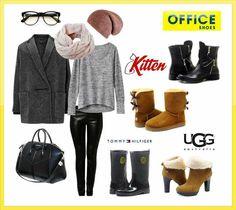 Dámy, čo poviete na tento jesenný outfit s módnymi čižmičkami? Najnovšie modely z kolekcie jeseň/zima 2014 už máme na sklade v Office Shoes