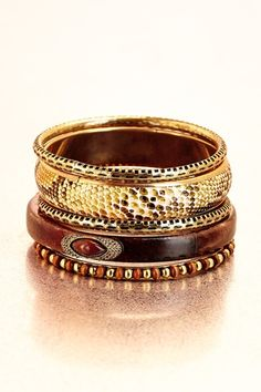 Mixed bangle set from Boston Proper on shop.CatalogSpree.com, your personal digital mall.