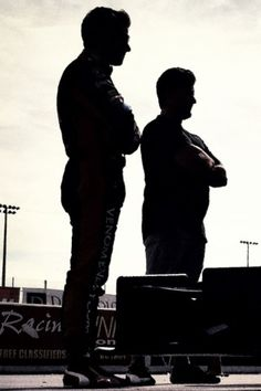 Marco and Michael Andretti photographed by 'imself.