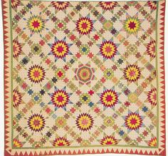 Civil War Quilts: Stars in a Time Warp 46: Shawl, Stick Prints and Cracked Ice