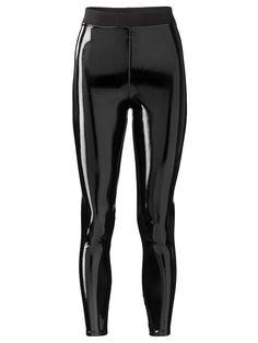 Skinny Lak - Legging Helemaal weer on trend met een lange wollen trui!