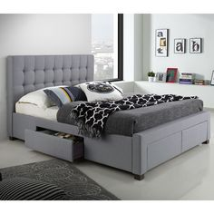 DG Casa Kyla Full/Double Upholstered Storage Platform Bed