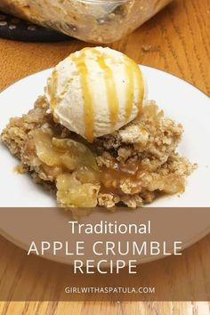 This Traditional Apple Crisp recipe is the perfect dessert to finish any meal. Is there anything better? If you are like me, the answer will be - No! Made with tart Granny Smith Apples and topped with vanilla ice cream, this apple crisp will be a winner every time. #dessert #easydessert #homemade #bakery Apple Crumble Recipe, Apple Crisp Recipes, Traditional Apple Crisp Recipe, Best Blogs, Budget Meals, Easy Desserts, Delish, Good Food, Favorite Recipes