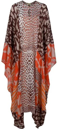 Issa Oversized Kaftan in Multicolor