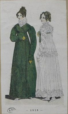 A green redingote (or possibly riding habit?) 1816