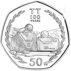 Isle of Man 2007 - Centenary of the TT Races: Dave Molyneux - Proof Sterling Silver Coin Rare British Coins, Rare Coins, 50p Coin, Mint Coins, Old Money, Isle Of Man, Coin Collecting, Homeland, United Kingdom