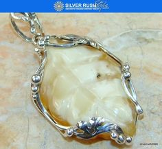Incredible Baltic Amber Sterling Silver Pendant