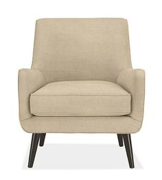quinn chair from room and board. in natural