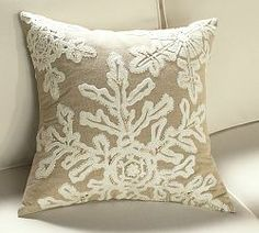 Christmas Decorations & Christmas Home Decor | Pottery Barn- like the lace on burlap