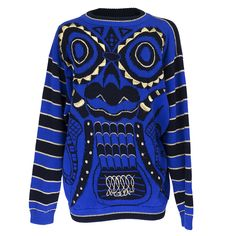 Vintage KANSAI YAMAMOTO 80s Electric Blue Sweater – THE WAY WE WORE