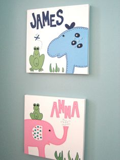 another option for kids' bathroom wall art