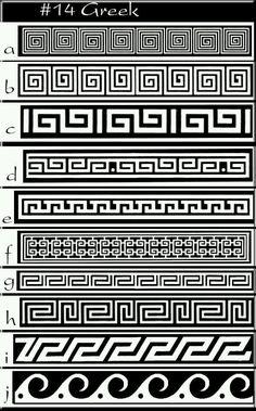 Greek pattern greek idea's -patterns www. Ancient Greek Art, Ancient Greece, Egyptian Art, Ancient Aliens, Ancient Egypt, Symbole Tattoo, Greek Pattern, Greek Design, Greek Key