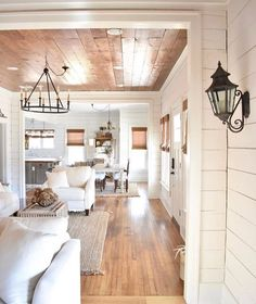 Awesome Rustic Farmhouse Style Living Room Design Ideas 19 - Rustic Farm Home Style At Home, Living Room Designs, Living Spaces, Decoration Inspiration, Decor Ideas, Ship Lap Walls, My New Room, White Walls, Fixer Upper