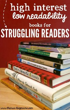 High Interest Low Readability Book List for Struggling Readers {great if you teach kids in 3rd through 5th grades} | This Reading Mama