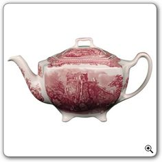my teapot <3 johnson brothers red transferware (old britain castles)
