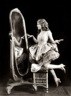 Mary Pickford in silent movies.