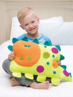 Crochet a 'Roarrry Dinosaur' by Debra Arch – So Cheerful and Fun! Crochet a 'Roarrry Dinosaur' by Debra Arch - So Cheerful and Fun! Crochet For Boys, Crochet Home, Crochet Gifts, Cute Crochet, Crochet Dolls, Crochet Baby, Crochet Cushions, Crochet Pillow, Blanket Crochet
