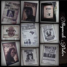 Harry Potter Mystery Dinner Party Hogsmeade Printables - Posters, Signs, Wanted Posters & Daily Prophet Newspapers, Food ideas, Food labels, etc.