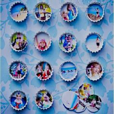 Dream ItReport Clip Cute bottlecap magnets will remind you of fun times every time you raid the fridge.