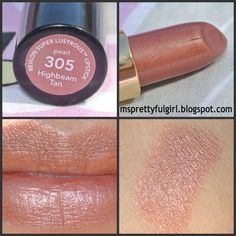 Revlon 305 Highbeam Tan. A sheer, pearly, apathetically washed-out beige un-color with no apparent purpose in life.