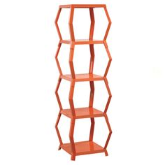 Featuring an openwork geometric design, this sculptural etagere is the perfect place to display eye-catching curios or your favorite photos....