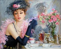Afternoon Tea painting from http://www.paintinghere.org/painting/afternoon_tea-29816.html