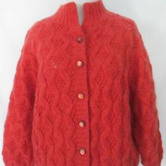 1970's Cardigan Wool Blend Cardigan Vintage by ChinaCatVintage