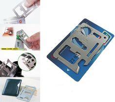 Faca de cartão de crédito ferramenta multi bolso multifuncional multiuso sobreviver acampamento carteira abridor de garrafa ao ar livre kit engrenagem edc gadget
