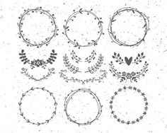 Hey, I found this really awesome Etsy listing at https://www.etsy.com/listing/507274204/circle-monogram-frames-svg-flower