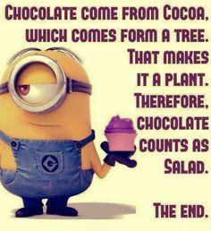 Chocolate = Salad