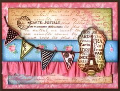 Paris Card - Darcie's rubber stamp set