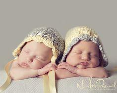 Crochet Hat Pattern Vintage Baby Bonnet Pixie Hat