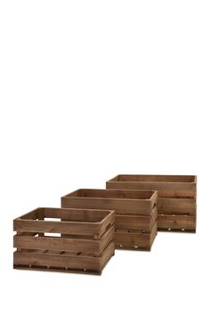 Ainsley Wood Crates - Set of 3 by Imax on @HauteLook