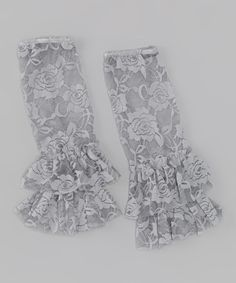 Take a look at this Silver Victorian Lace Ruffle Leg Warmers by Pixiedust Pretties on #zulily today!