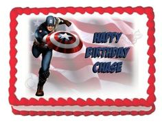 Captain America edible cake topper decoration cake image frosting sheet * Learn more by visiting the image link.(This is an Amazon affiliate link and I receive a commission for the sales)