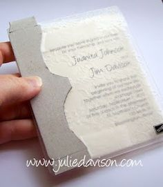 Cut a piece of chipboard the shape of the embossed design that you want to show up on your project