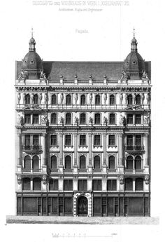 Elevation of a residential and commercial building on the Kohlmarkt, Vienna