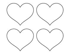 8 inch heart pattern. Use the printable outline for crafts