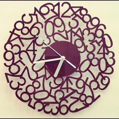 I really love this clock! It would look good on my clock wall.