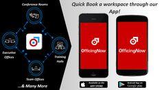 Book Short duration #Offices @ a Click, Download OfficingNow App !!  Apple Store: https://itunes.apple.com/us/app/officingnow/id1092043608 ……  Google Play Store: https://play.google.com/store/apps/details?id=com.mandeep.officingnow …