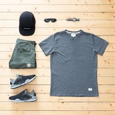 WEBSTA @ jaybeezishangintough - today's #outfitgrid #NorseProjects niels tee…