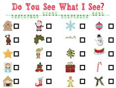 christmas light scavenger hunt for kids who can't read yet