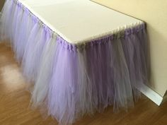 Tulle Tutu Table Skirt Any Size/Color by PrettyLookingEvent