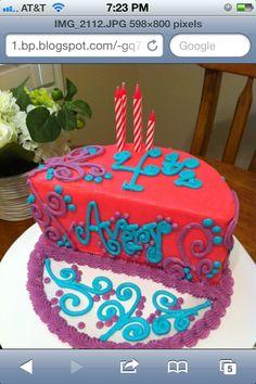 Pink half birthday cake 12 6 months baby half cake