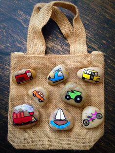 Transportation Story Stones by starrygirlb on Etsy