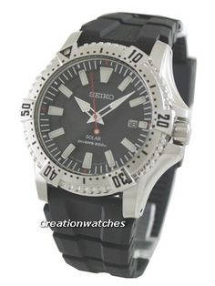 New Seiko Solar Divers Men's Watch Seiko Solar, Watches For Men, Accessories, Products, Men's Watches, Gadget, Jewelry Accessories