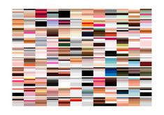 Arthur Buxton. Color trend visualizations. A series of charts, each designed to be visually pleasing and function as a visualization tool. Each represents a famous painting, portraying the 5 most prominent colors as a percentage.