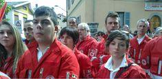 presenti: Croce rossa, volontari
