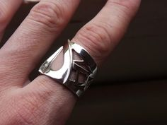 Drawnwork  Ring Fine Silver Jewelry for Women or Men by aforfebre